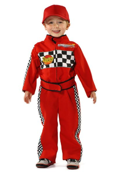 Children's Boys F1 Formula One Racing Driver Fancy Dress Up Costume